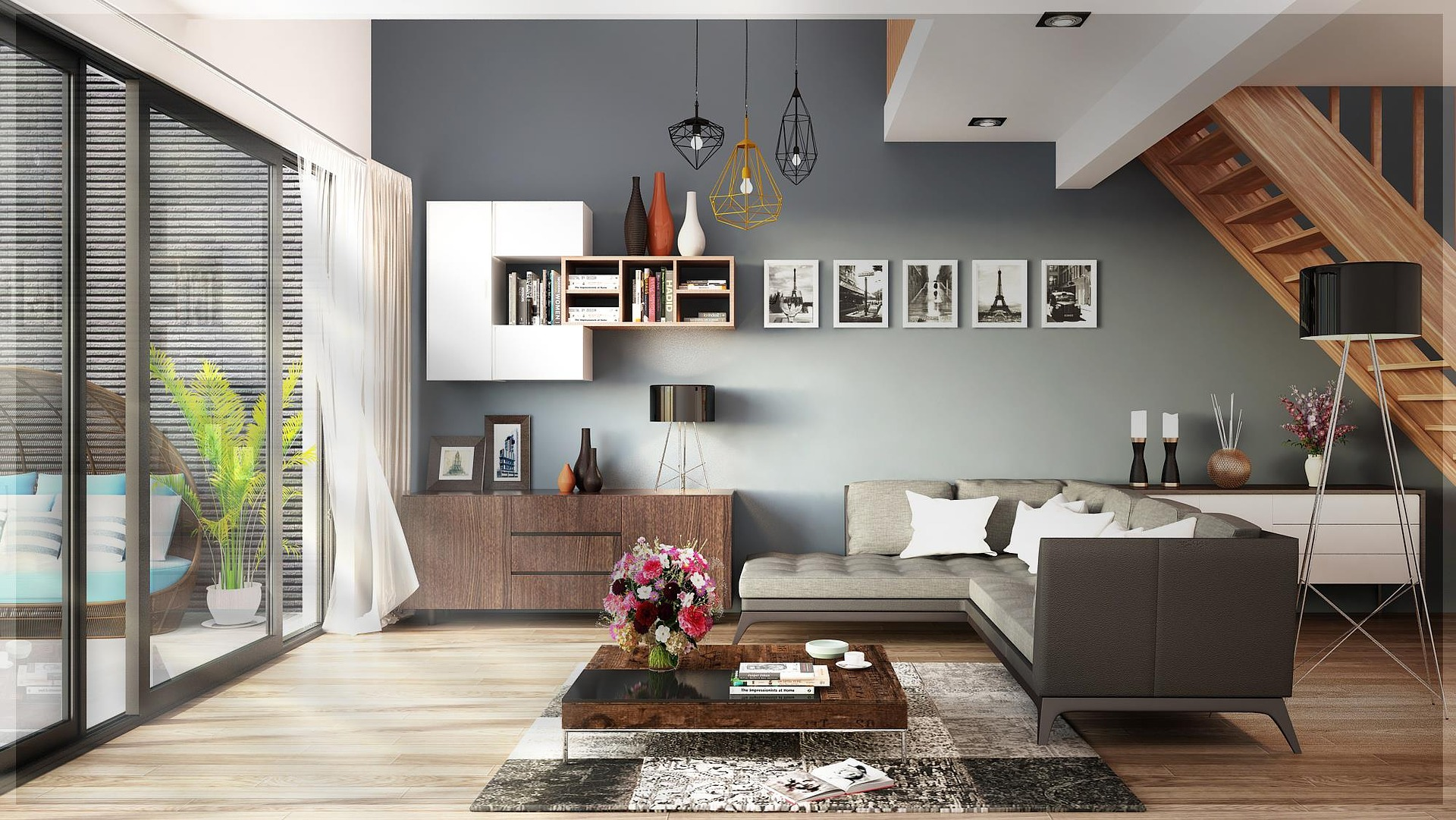 Wzory paneli podłogowych, astyl wnętrza